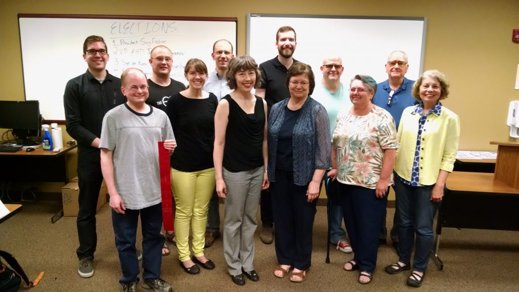 The Chippewa Valley Toastmasters Club received the District Director's Award. A big honor and team effort!